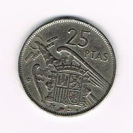 //  SPANJE 25 PESETAS 1957 (59)  FRANCO - [ 5] 1949-… : Royaume