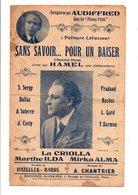 PARTITION SANS SAVOIR...POUR UN BAISER NAZELLES-BARRé / A. CHANTRIER - Partitions Musicales Anciennes