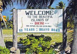 1 AK Marshall Islands * Bikini Atoll * Welcome-Sign-at-Erneu-Airstrip * Ehem. USA Kernwaffentestgelände 2010 UNESCO Erbe - Marshall