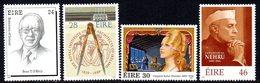 Ireland 1989 Anniversaries & Commemorations Set Of 4, MNH, SG 728/31 - 1949-... République D'Irlande