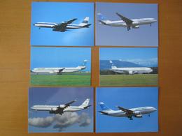 Lotto 6 Cards Kuwait Airways A310 A330 A340 - B.707 B.777 Set 6 Cartoline - 1946-....: Era Moderna