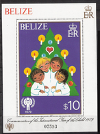 Belize 1980 Christmas / International Year Of The Child, Mi  Bloc  28  MNH('') - Belize (1973-...)