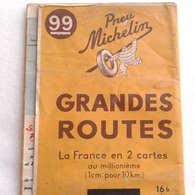 Carte Routiere 1947 MICHELIN 99  Grandes Routes Du Sud De La France - Roadmaps