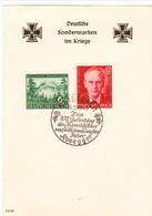 """III. Reich,  Blatt """" Deutsche Sondermarken Im Kriege """", Peter Rosegger - Briefe U. Dokumente"""