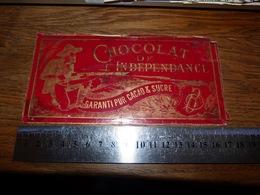 BC1-2-0 LV10 Image D Ancien Emballage Chocolat De L'indépendance 17x9 - Advertising