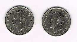//  SPANJE 2 X 25 PESETAS 1982/83  M  JUAN  CARLOS - [ 5] 1949-… : Royaume