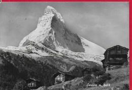 CARTOLINA VG ITALIA - Monte CERVINO - Panorama - 10 X 15 - ANN. 1956 - Italia