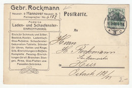 Gebr. Rockmann, Hannover Company Postal Card Travelled 1908 B190510 - Germania