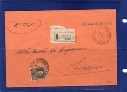 ##(LB003)POSTAL HISTORY-Libia-Tripoli -1-6-1931-  Busta   Raccomandata Da Tripoli D'Africa A Livorno - Libya