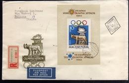 HUNGARY UNGHERIA MAGYAR 1960 OLYMPIC GAMES ROME GIOCHI OLIMPICI ROMA SHEET  FOGLIETTO FDC - Blocchi & Foglietti