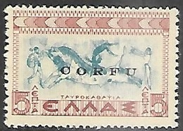 Corfu Italian Occupation  1941   Sc#N15  MLH  2016 Scott Value $6 - Ionische Inseln