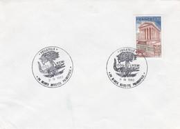 FRANCE- LETTRE  CACHET COL.NEM. 11.IV.1983 NÎMES 30 / 1 - Commemorative Postmarks