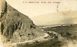 QUEBRADA DE ZONDA - SAN JUAN. ARGENTINA POSTAL CPA CIRCULE 1924 - LILHU - Argentine
