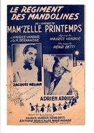 PARTITION LE REGIMENT DES MANDOLINES MAURICE VANDAIR ET G.M. BERNANOSE / HENRI BETTI - Partitions Musicales Anciennes
