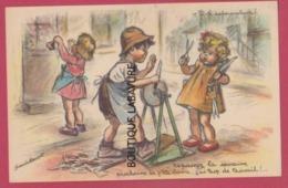 BOURET Germaine---V'la Le Remouleur--Repassez La Semaine Prochaine La P'tite Dame J'ai Trop De Travail !! - Bouret, Germaine