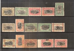 Congo Belge - Taxe - 15 Différents - XX/X-MNH/MH (à Voir) - Congo Belge