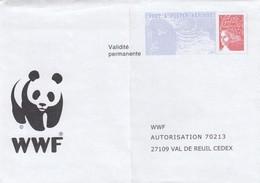 FRANCE- LETTRE  ENTIER POSTAL  PAP MARIANNE DE LUQUET - WWF   / 1 - Postwaardestukken