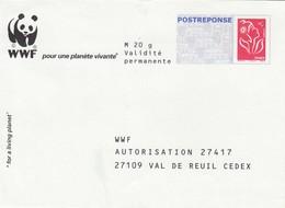 FRANCE- LETTRE  ENTIER POSTAL  PAP MARIANNE DE LAMOUCHE - WWF   / 1 - Biglietto Postale