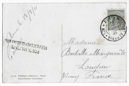 "ALBANIA - 1916 - CARTE FM De La POSTE MILITAIRE ""ALBANIA N°1"" Avec CENSURE De VALONA => LOUDUN - Albania"