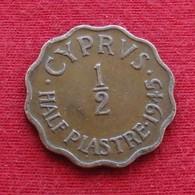 Cyprus 1/2 Half Piastre 1945 KM# 22a  Chipre Zypern - Cyprus
