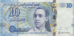 Tunisie 10 Dinars (P96) 2013 (Préf: D/35) -UNC- - Tunisia