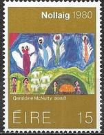 IRELAND 1980 Christmas - 15p Nativity Scene (painting By Geraldine McNulty) MNH - 1949-... République D'Irlande