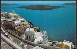 GRECIA - ISOLA SANTORINI - PANORAMA - VIAGGIATA 1979 FRANCOBOLLOASPORTATO - Grecia