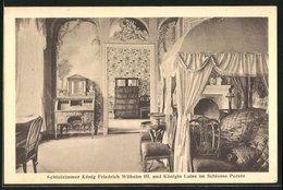 AK Paretz, Schloss, Schlafzimmer König Friedrich Wilhelm III. Und Königin Luise, Innenansicht - Allemagne