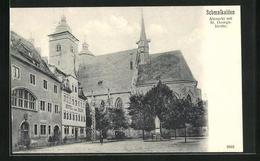 AK Schmalkalden, Altmarkt Mit St. Georgskirche, Hotel Zum Adler - Schmalkalden