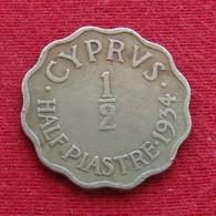 Cyprus 1/2 Half Piastre 1934 KM# 20 Chipre Chypre Cipro Zypern - Cyprus