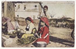GREECE, THESSALONIKI, TEKKELI, ETHNIC COSTUMES C1910s SALONICA Vintage Postcard - Greece