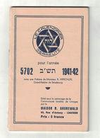LE CALENDRIER ISRAELITE LUNARIO EBRAICO Per L'anno 5702  (era Volgare 1941 - 1942) - Calendari