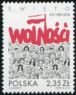 2014 Poland Freedom Day Solidarity MNH  ** - 1944-.... Republiek