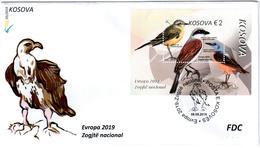 Kosovo Stamps 2019. Europa CEPT: National Birds. FDC Block, Souvenir Sheet MNH - Kosovo