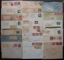 Paris Lot De 20 Lettres Recommandées Des Années 1940, Différents Bureaux Timbres Pétain, Voir Photo - Postmark Collection (Covers)