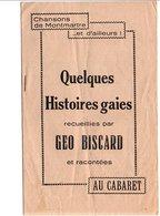 QUELQUES HISTOIRES GAIES RECUEILLIES PAR GEO BISCARD - Livres, BD, Revues