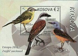Kosovo Stamps 2019. Europa CEPT: National Birds. Block, Souvenir Sheet MNH - Kosovo