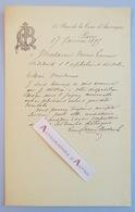 L.A.S 1895 Louis CARRIER BELLEUSE Peintre Céramiste > Actrice Marie LAURENT Orphelinat Des Arts Lettre Autographe - Autographes