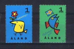 Aland. Timbres De Voeux - Aland