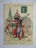 CHAGNY    - PROCLAMATION  DE MOULAI  HAFID     ......        TTB - Chagny