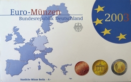 488 - COFFRET BE EUROS ALLEMAGNE 2003 A - 1 Cent à 2 Euros - Germania
