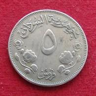 Sudan 5 Ghirsh 1956 KM# 34.1 Sudão - Sudan