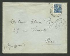 BASSES ALPES / Recette Rurale VILLARS COLMARS / Timbre Jeanne D'arc 1929 - Marcophilie (Lettres)