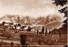 """D9251 """"COURMAYEUR (M. 1224) - LA CATENA DEL MONTE BIANCO VISTA DALLA FRAZIONE VERRANO""""  CART  SPED 1937 - Italia"""