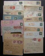 Paris Lot De 16 Lettres Recommandées Des Années 1940, Différents Bureaux Timbres Pétain, Voir Photo - Postmark Collection (Covers)