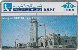 Morocco - ONPT - L&G - Mosquée Hassan II En Chantier - 204D - 1992, 70U, 60.000ex, Used - Maroc