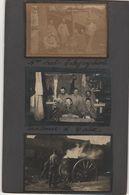 9 Petites Photos Section Télégraphistes Caix Somme - 1914-18