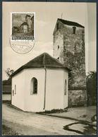 """Liechtenstein 1958 Photo Maximumkarte Mi.Nr.376 MK """"kapelle St.Peter Mäls-Balzers""""mit EST"""" 1 MC - Kirchen U. Kathedralen"""