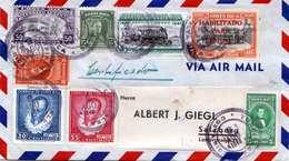 COSTA RICA 1948 - Sehr Schöne 8 Fach Frankierung Auf Reco-LP-Brief Gel.v.Costa Rica > Salzburg - Costa Rica