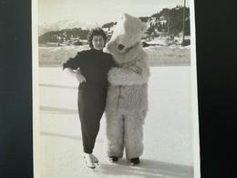 Homme  Déguisement Eisbär Ours Blanc Polaire Villars Suisse école De Ski Garmisch Lot 3 Carte - Photos + 1 Carte Postale - Persone Anonimi